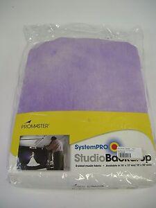 Promaster Studio 10'x20' Crush Dyed Muslin 2-sided Backdrop Purple