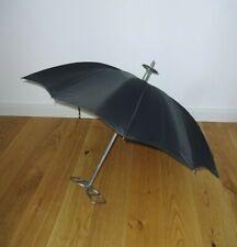 Vintage Hugo Boss Oldtimer Regenschirm Sitzschirm Sitzstock Jagdstuhl Wandersitz