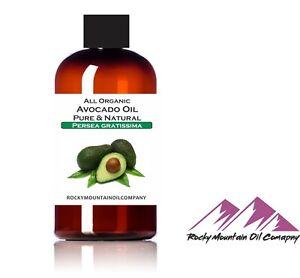 PURE PREMIUM VIRGIN ORGANIC AVOCADO OIL COLD PRESSED UNREFINED 4 8 16 oz hair