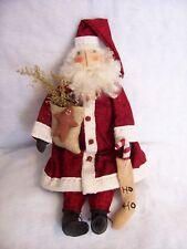 Pattern, Primitive doll, Christmas Santa, hand made by Dumplinragamuffin