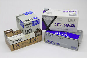 DAT Tapes New NOS Various brands (Sony DT-90, Maxell R-90DM, HHB DAT95)