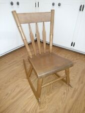 VINTAGE HAND CRAFTED MAPLE CHILDREN'S ROCKING CHAIR DATED 1938--VERY NICE