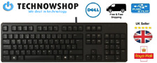 Cheap Dell Genuine USB Black Keyboard KB212-B QWERTY UK Layout High Quality Used