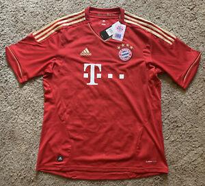 Adidas fc bayern munich soccer jersey red gold size L Climacool