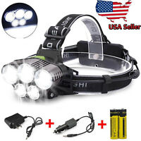 450000LM 5X T6 LED Headlamp Rechargeable Head Light Flashlight Torch Lamp USA