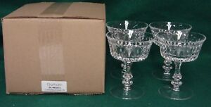 Gorham DE MEDICI Champagne Glass SET of FOUR Mint in Box More Item Available