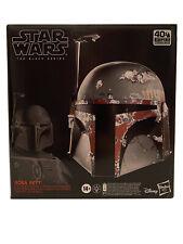 Star Wars Black Series BOBA FETT Premium Electronic Helmet Life Size Mandalorian