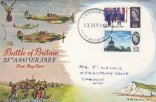 (83056) CLEARANCE GB FDC Battle of Britain non-phos London 13 Sep 1965 fair/good
