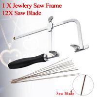 Adjustable Jewellers Piercing Saw Frame Jewellery Making Tool w/ 12 Saw