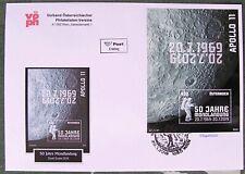 Ersttag, FDC - 50 Jahre Mondlandung, Michel BL 106 - Österr 1W SM-BL Juli 2019