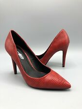 Dorothy Perkins High heels Size 4 Uk Red Faux Snake Pattern Faux Leather