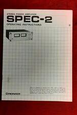 ORIGINAL Service Manual-Anleitung für Pioneer Spec-2 - Gebrauchsanleitung