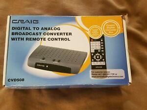Craig Electronics CVD508 Digital To Analog Broadcast Converter w/remote - NEW