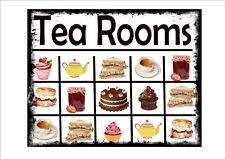 Tea Rooms Afternoon Tea Sign Wall Plaque Vintage Tea Advertising Sign