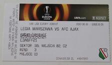 Ticket for collectors EL Legia Warszawa Ajax Amsterdam 2017 Poland Holland