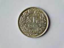 Switzerland  ½ Franc Coin 1963 (22 stars), Silver