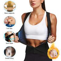 Women&Men Body Sweat Shaper Sauna Vest Slimming Gym Yoga Sports Thermal Zipper