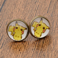 Cute Japan Anime Pikachu Stud Earrings Pokemon Pokedex Manga Cosplay Gift 1Pair