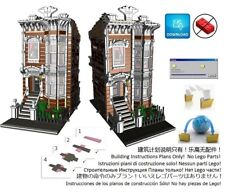 Lego Brownstone Terrace 1 Instructions Modular Custom Building Design City Town