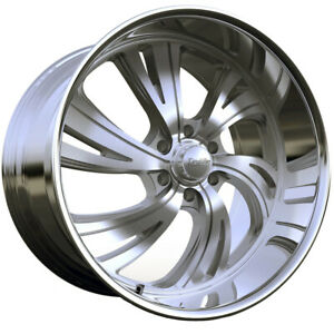 "4-Dropstars 658BS 24x9 6x5.5"" +18mm Brushed Wheels Rims 24"" Inch"