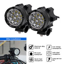 2* 180W Super Bright  9 CREE LED Motorcycle Bulb Fog Spotlight With Lamp Cover
