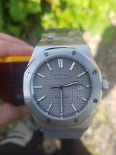 Reloj Cronógrafo para Hombres homenaje 42mm Gris De Lujo De Roble parnis Reino Unido Vendedor didun