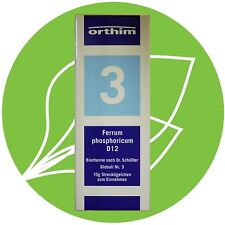 Schüßler Salz Nr.3 Ferrum phosphoricum D12 Globuli PZN 08884464
