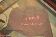 Vintage Canvas SINGER SEWING MACHINE Cover 28X24X20 Dark Brown Color