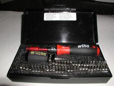 Wiha Adjustable Torque Screwdriver 53 Pc Bit Set 10 to 50 in/lbs Handle 28595