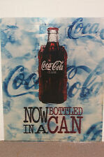 "Unique Large ""Now Bottled In A Can"" Image Changing Coca-Cola Sign Advertisement"