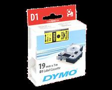 4 CINTAS DYMO D1 19 X 7 NEGRO Y AMARILLO 45803