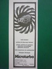 6/1983 PUB MICROTURBO TOULOUSE TURBINE A GAZ REACTEUR CIBLE ORIGINAL FRENCH AD