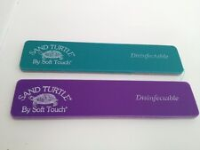 2 x NSI Sand Turtle Nail Files, 120 & 220 Grit New - Cuticles