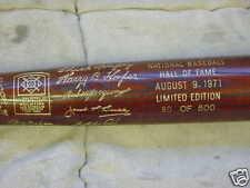 1971 hall of fame brown bat Satchel Page, Harry Hooper