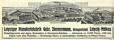 Leipziger piano-usine Gebr. zimmermann mölkau Ellenburg seifhennerdorf v. 1912