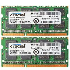 8GB 2x4GB PC3L-8500S DDR3L-1066Mhz 204-PIN SODIMM Laptop Notebook Memory Module