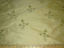 "~13 YDS~100% SILK~""FLOWERS""~EMBROIDERED~DRAPERY UPHOLSTERY FABRIC FOR LESS~"