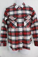 New Pendleton Red & Blue Plaid Women's Hawthorne Flannel Shirt SE0