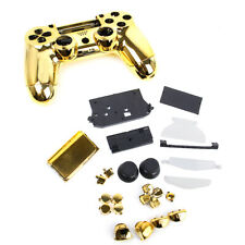 Metal plated Full Housing Shell Case Buttons for Sony PS4 Controller Golden