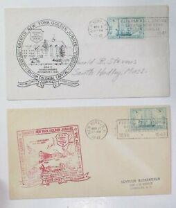 "COVER CACHET (2) DIFFERENT  ""GREATER NEW YORK GOLDEN JUBILEE 1948 w/SLOGAN"