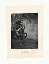 Wotanszug d'E. Herger art supplément Odin cheval fantômes Gravure sur bois GL III 767