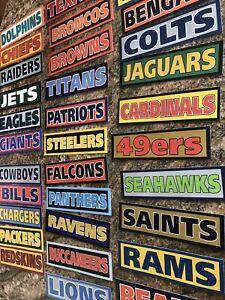 NFL Sticker Team Decal - NFC AFC Fantasy Football Super Bowl Sports Fan