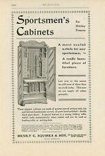 1900 Henry Squires Sportsmen's Cabinet Ad Gun Rifles Shotguns Furniture Hunting