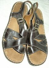 8.5 naturalizer ~ dark brown leather sandal ~ 8 ½ M