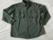 Kakadu Traders Australia Size Medium Shirt jacket Green Gunn Worn Processed