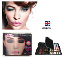 39 Colour MAGICAL WINKING Eye Shadow Make Up Set Sparkle EYE Palette Gift Mirror