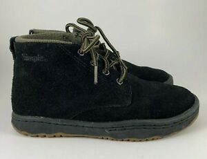 Men's Simple Brand Shoes Black Suede High Top Sneaker Chukka Size 5 WMNS 7