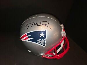 Tom Brady Autographed New England Patriots FS Helmet Mounted Memories Authentic