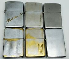 New ListingLot of 6 Vintage 1950s Steel & Brass Zippo Lighter Cases Only 2032695