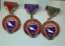 60th year Sports club Burevestnik, USSR, complete set !! 3 bronze badges!